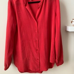 Red Long Sleeve Blouse - Equipment